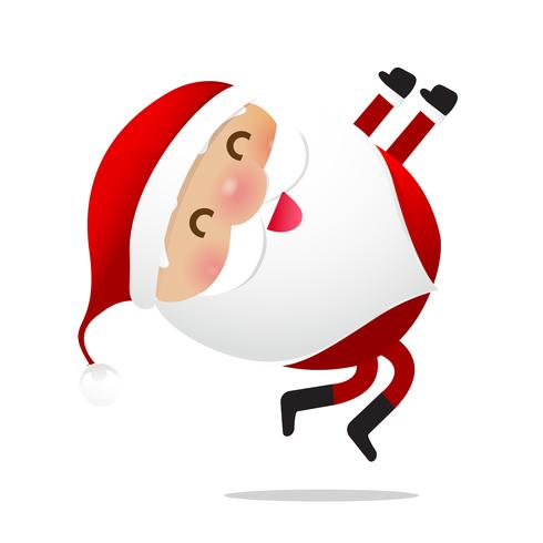 Dibujos animados feliz navidad santa claus personaje 021