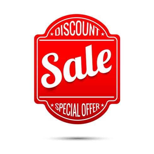 Sale text on red tag banner 001