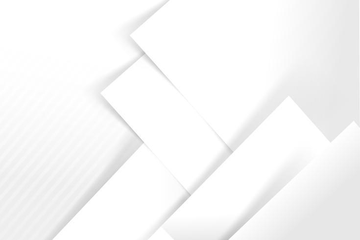Geometria básica de fundo abstrato branco e cinza se sobrepõe com ilustração vetorial de sombra 006
