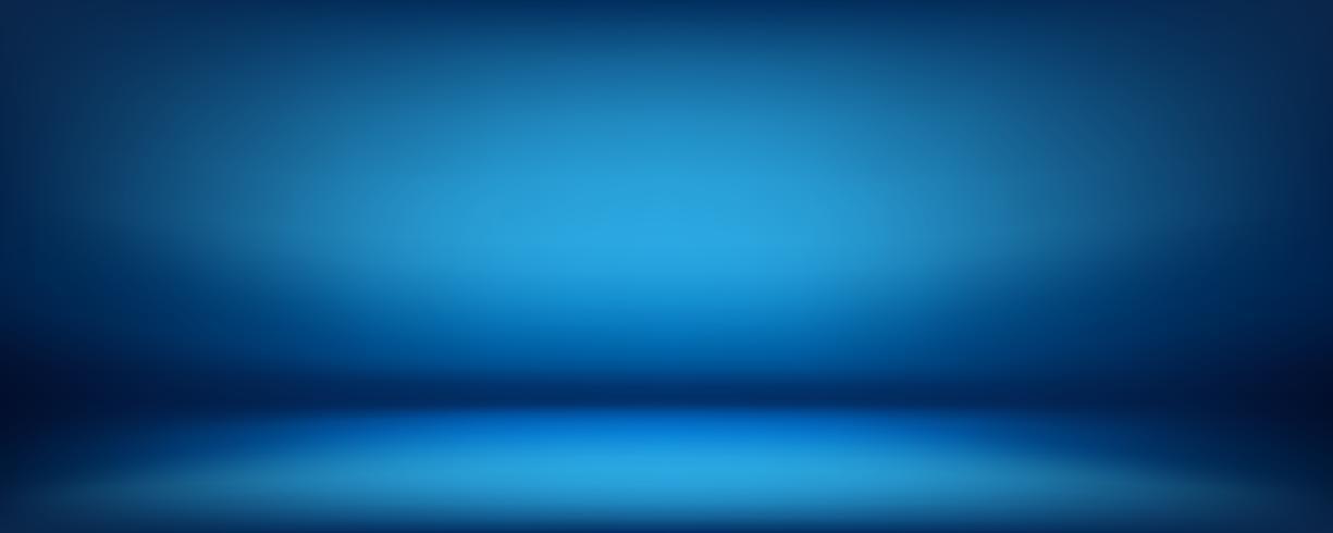 fond bleu, salle de studio de mur abstrait, peut être utilisé pour présenter votre produit vecteur