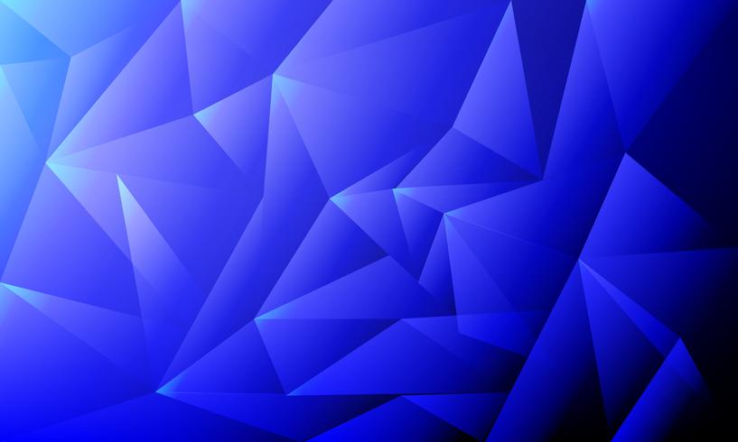 blaues niedriges Polygon und geometrischer Hintergrund