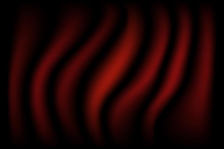 Fondo de seda abstracto textura de lujo rojo y negro y onda de tela vector