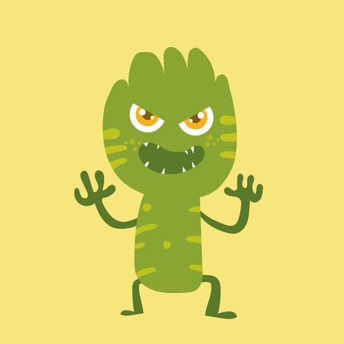 Personaje de dibujos animados lindo monstruo 011
