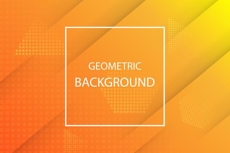fundo geométrico laranja e amarelo vetor