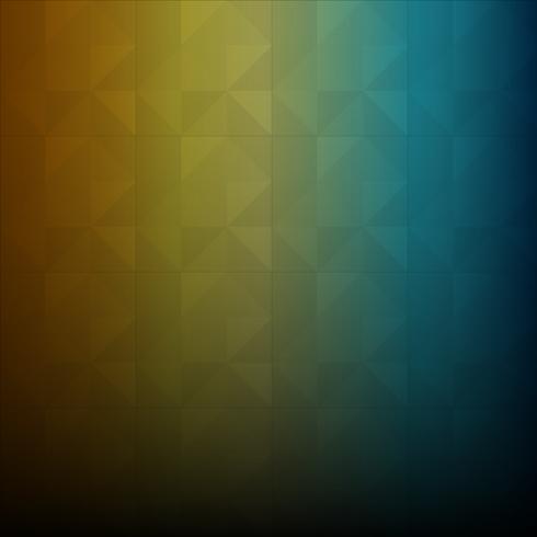 Polígono bajo azul y naranja y fondo geométrico vector