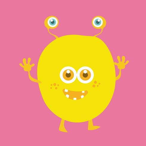 Cute monster cartoon character 012