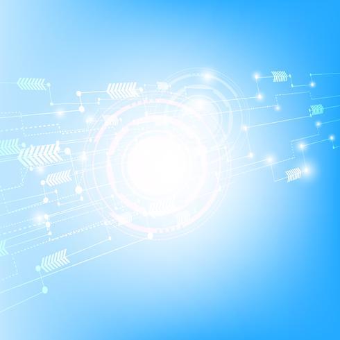 Blauer Technologie-Netzwerk-Hintergrund