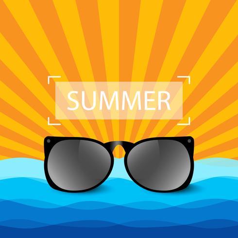 Solglasögon sommarbakgrund