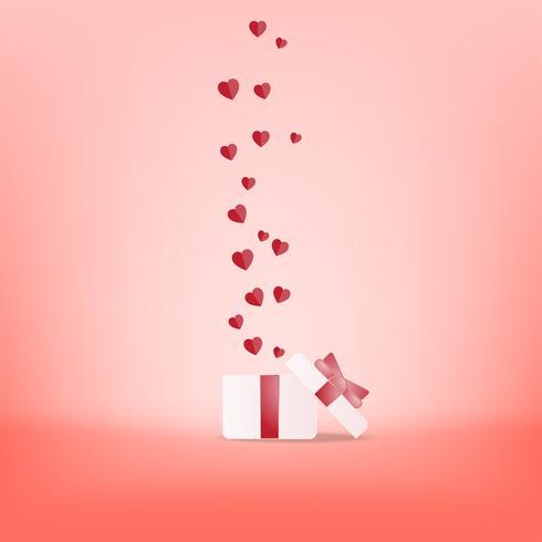 Ejemplo feliz creativo del vector de la postal del día de tarjeta del día de San Valentín.