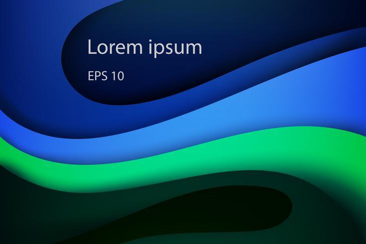 Moderne abstracte dekking, kleurrijke golf en vloeibare vormen blauwe achtergrond