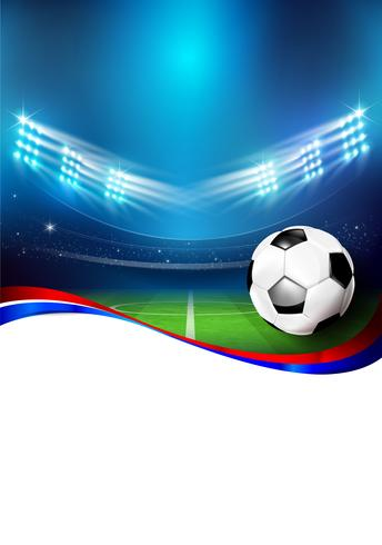 Cancha de futbol con estadio 005. vector