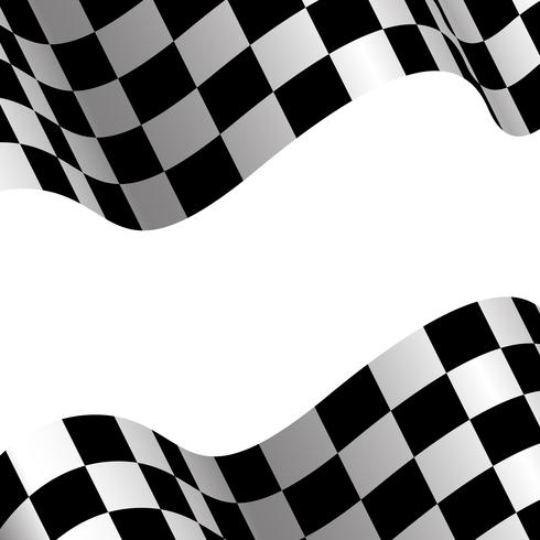 Checkered flag and white blank space design race sport