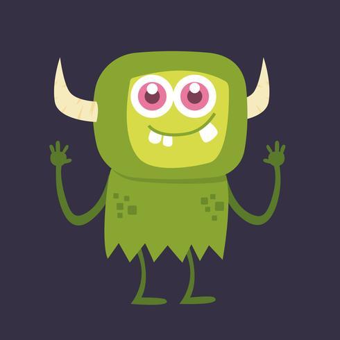 Personaje de dibujos animados lindo monstruo 002