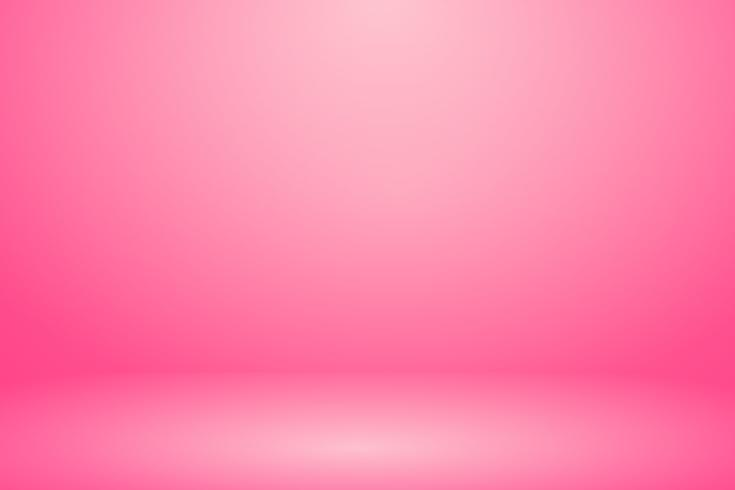 Bandeira de parede rosa macia e fundo de sala de estúdio