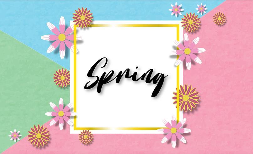 Bunter Frühlingshintergrund der kreativen Vektorillustration.