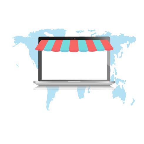 Notizbuch auf Karte für online einkaufen