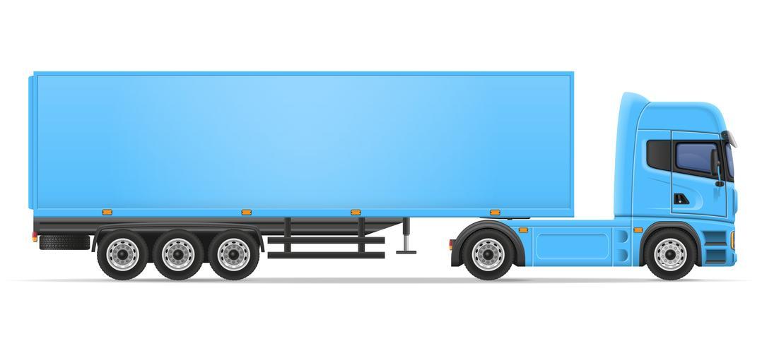 vrachtwagen oplegger vectorillustratie