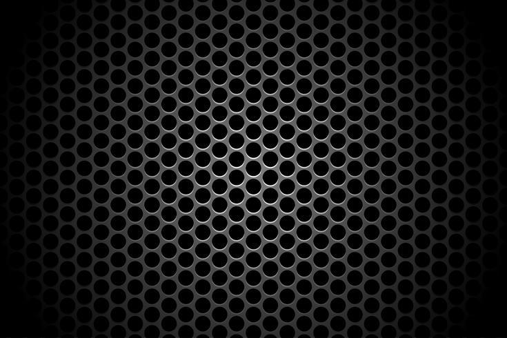 Resumen tecnología círculo agujero sombra telón de fondo fondo concepto metálico en alta tecnología futuro diseño vector