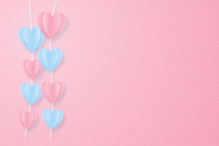 Concepto creativo del día de tarjeta del día de San Valentín de la tarjeta de la invitación del amor.