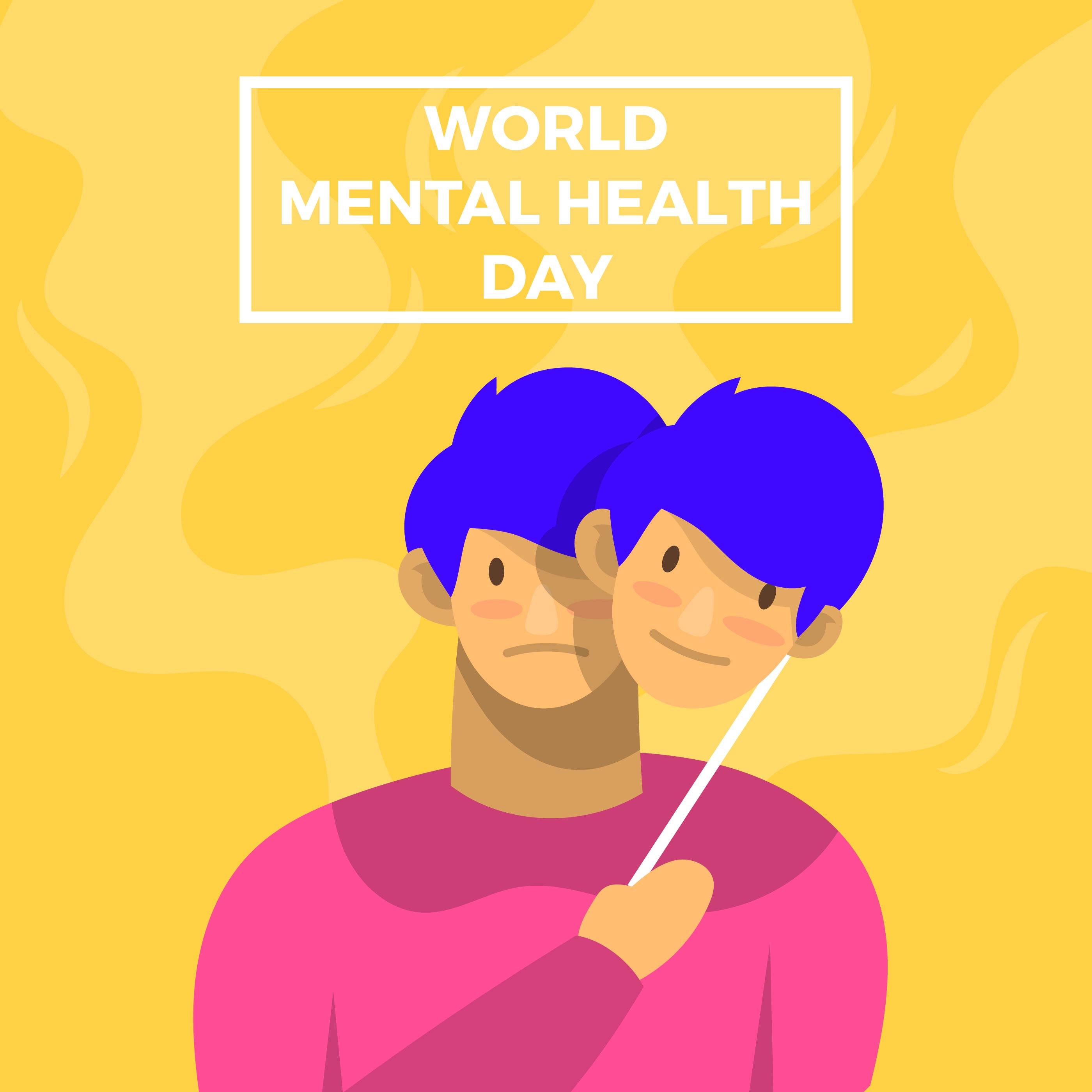 World Mental Health Day Vector Poster Download Free Vectors Clipart Graphics Vector Art