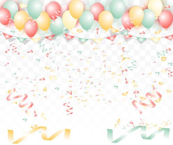 Heldere kleurrijke ballonsachtergrond. Voor Valentijnsdag of huwelijk met tekstliefde. vector
