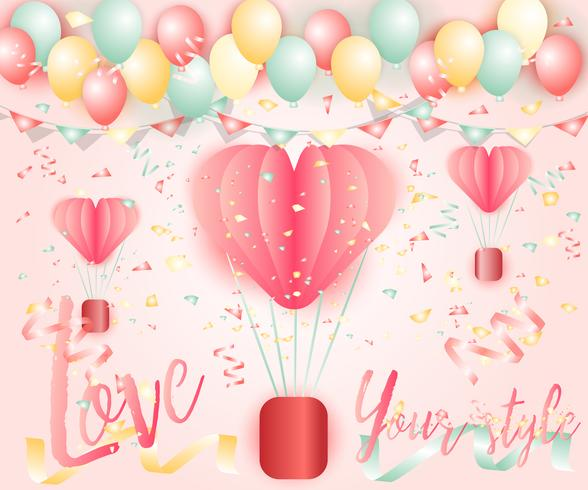Bright colorful balloons backdrop