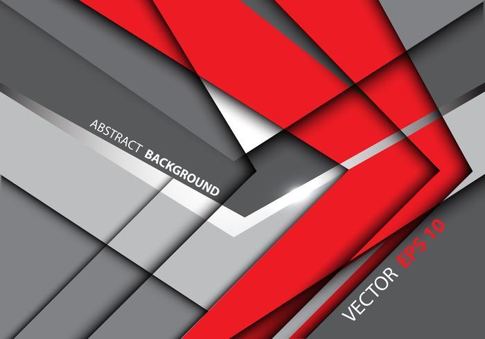 Flèche rouge abstraite sur illustration vectorielle de conception gris technologie moderne fond. vecteur