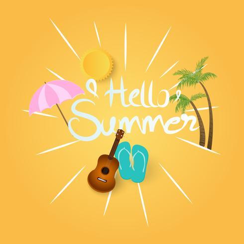 Sommerhintergrund mit Sonnenschein