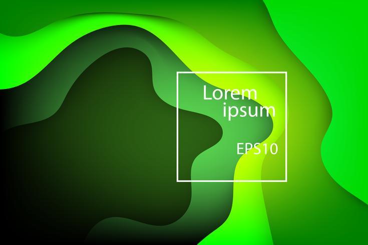 fluido onda verde e sfondo natura astratta