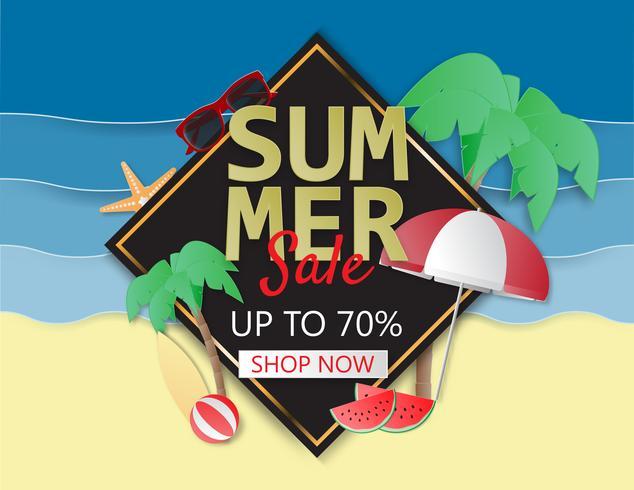 Layout di sfondo estate vendita per poster, flyer, brochure, banner.