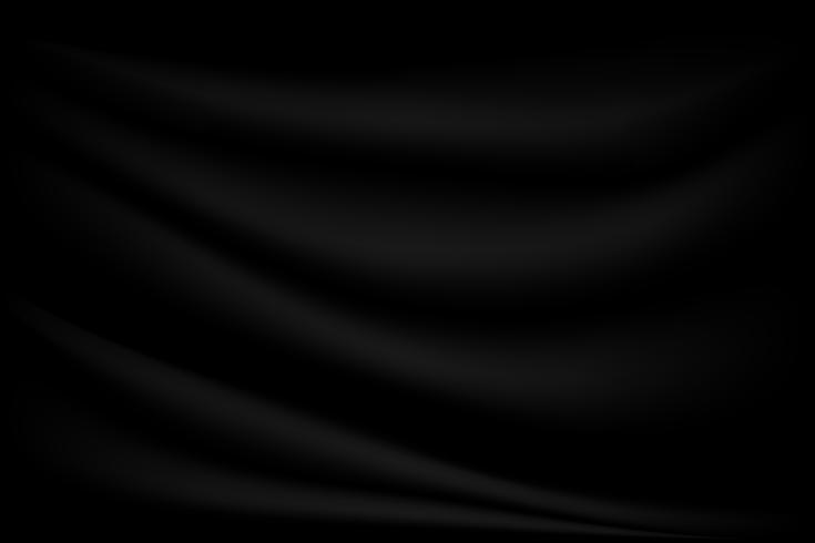 Fondo de seda abstracto textura de lujo negro y ola de tela vector