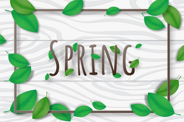 Fondo creativo de la estación de primavera del ejemplo decorativo.
