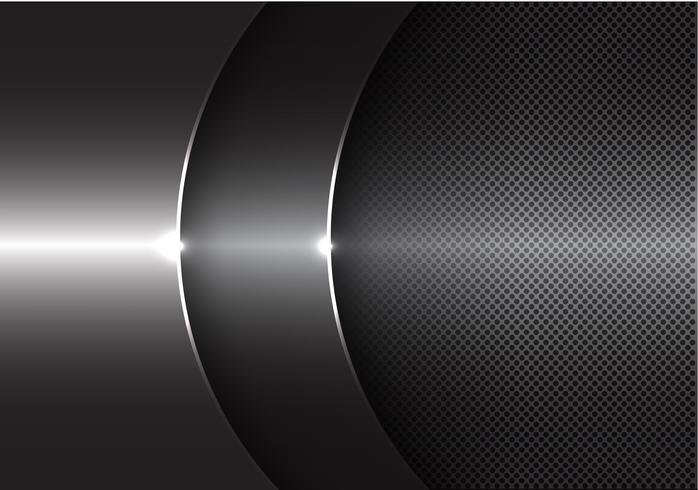 Ejemplo moderno del vector del fondo del diseño de la coincidencia de la curva del metal gris abstracto.