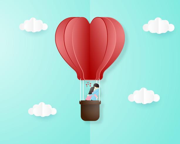 Kreativ kärlek inbjudningskort Alla hjärtans dag koncept.