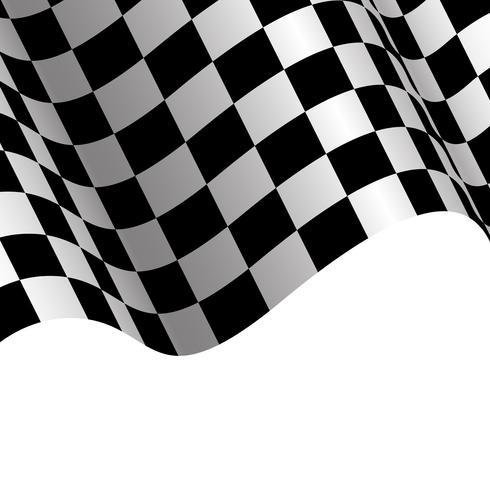 Weißes Hintergrunddesign der Zielflagge für Rennsport-Vektorillustration.