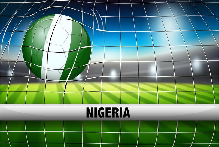 Pallone da calcio della Nigeria in porta