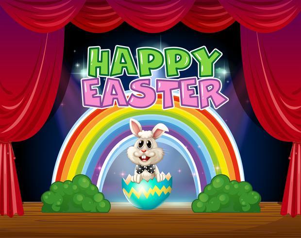 Glad påskkort med kanin i ägg