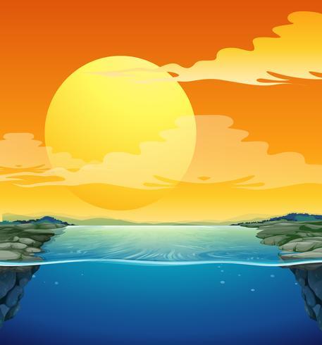 Naturszene mit Sonnenuntergang