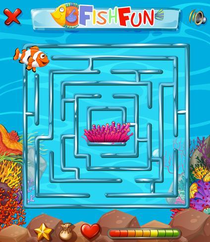 Unterwasser-Labyrinth-Puzzle-Spiel