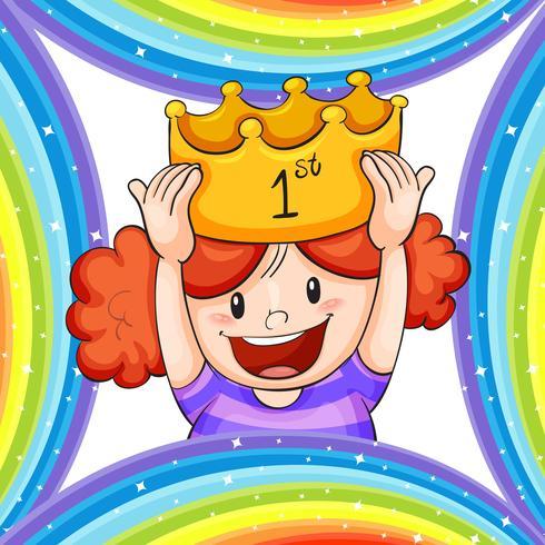 Mädchen, das goldene Krone trägt
