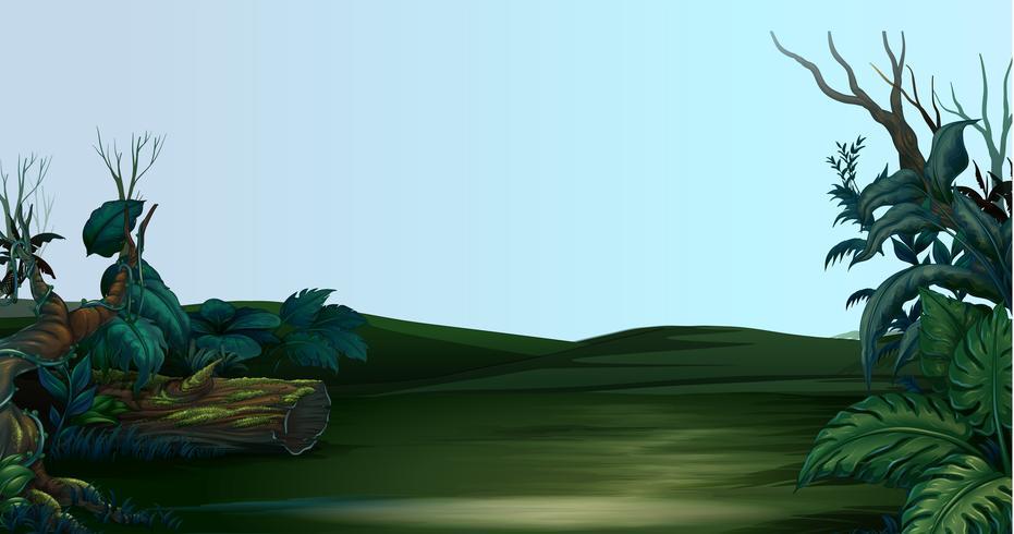 Cena com campo verde