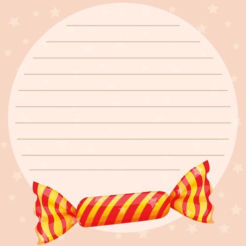 Modello di carta di linea con caramelle dolci