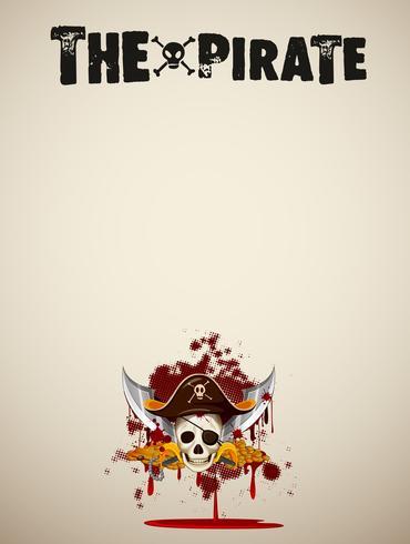 Die Pirat leere Vorlage