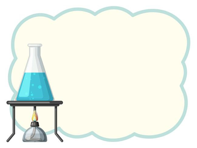Border template with chemical in beaker