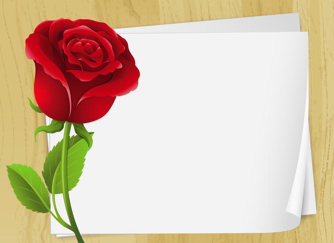 Rahmendesign mit roter Rose
