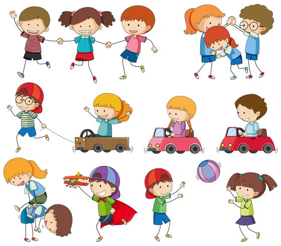 Set Kinder spielen