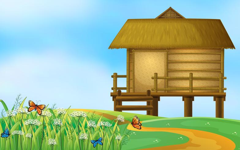 Eine Hütte in der Natur