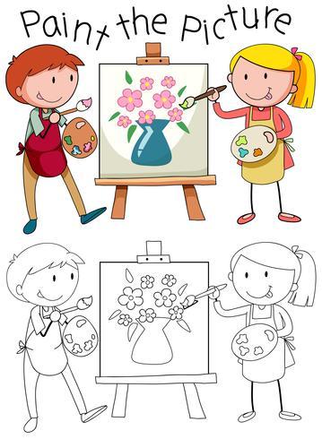 Doodle-Grafik der Kunst