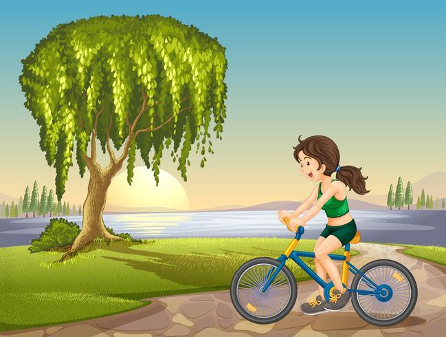 ein Mädchen und ein Fahrrad