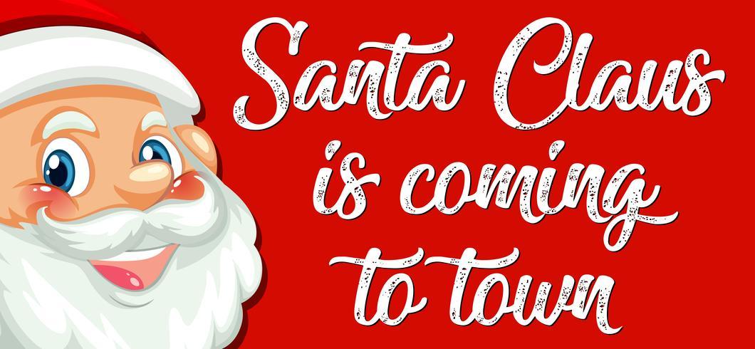 Der Weihnachtsmann kommt in die Stadt